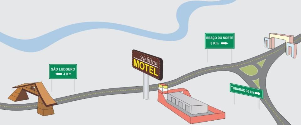 mapa motel como chegar